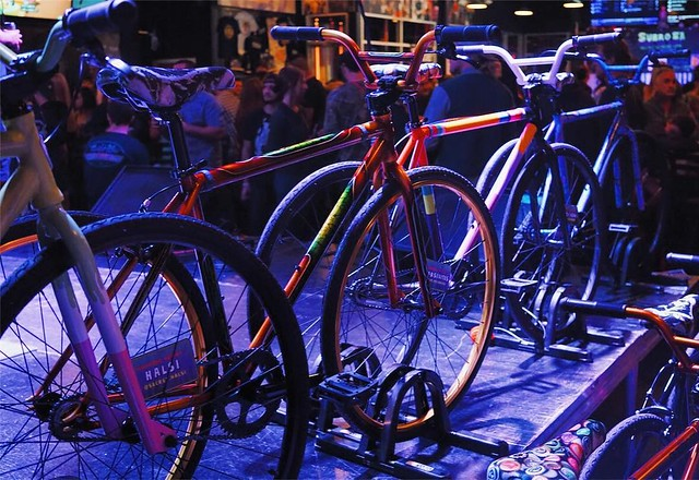 Subrosa + Hourglass bikes & beer release.                      Awesome