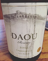 Hate how the wine fridge racks damage the labels, but am #loving this #reserve #chardonnay from @daouvineyards @daniel.j.daou