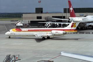 "Iberia McDonnell Douglas MD-87 (DC-9-87) EC-EZA ""Ciudad de Segovia"""