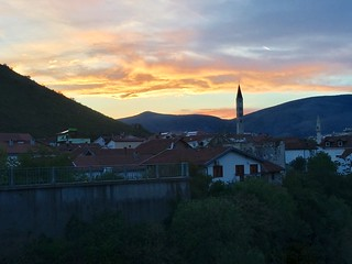 Sunset over Mostar