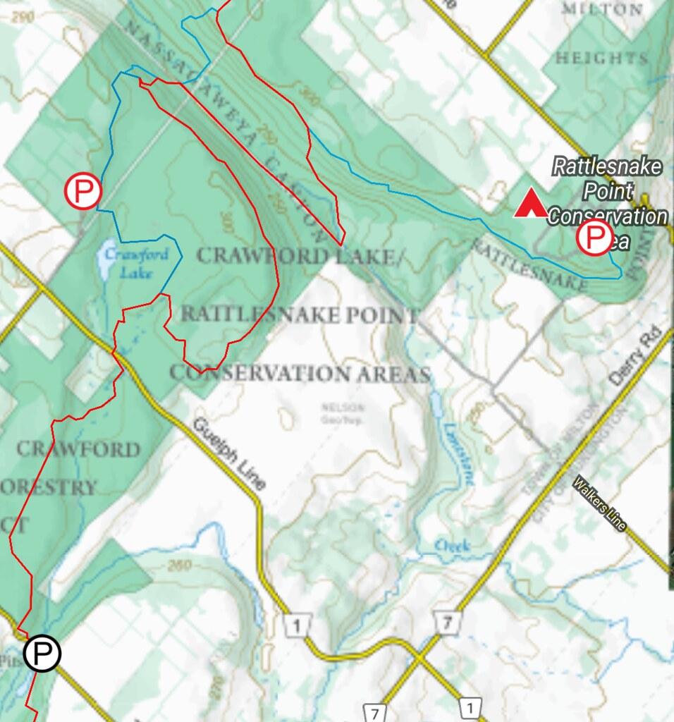 Crawford Lake & Rattlesnake Point Trail Map