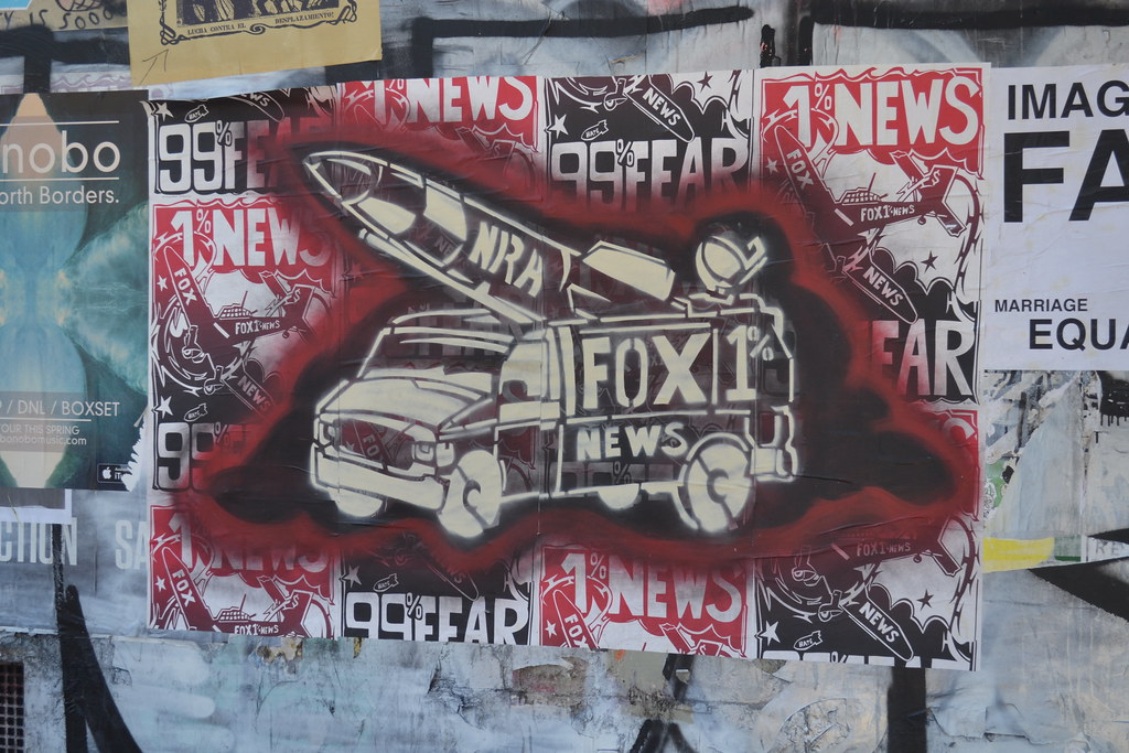 FOX NEWS, Political Gridlock, Street Art, San Francisco, poster, Sceen Print
