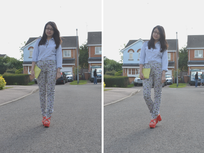 Daisybutter - UK Style and Fashion Blog: what i wore, ootd, british fashion, uk fashion blogger, printed trousers, SS13, uniqlo, whistles, ralph lauren