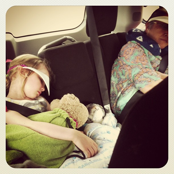 Two worn out passengers