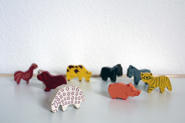 thrifted: wooden animals for vee