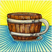 I drew you a wine barrel mug of coffee