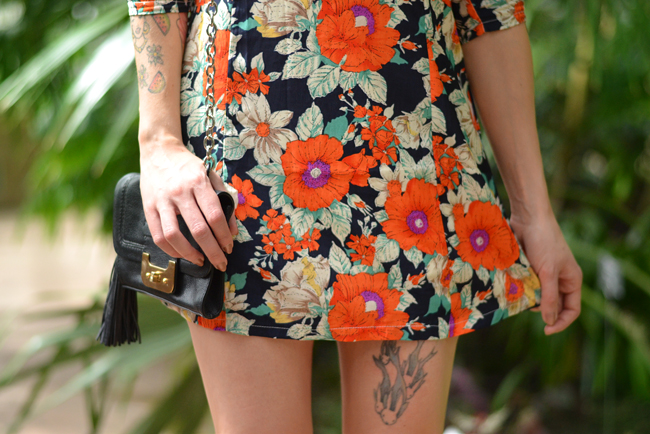 Palm trees floral dress blog 11