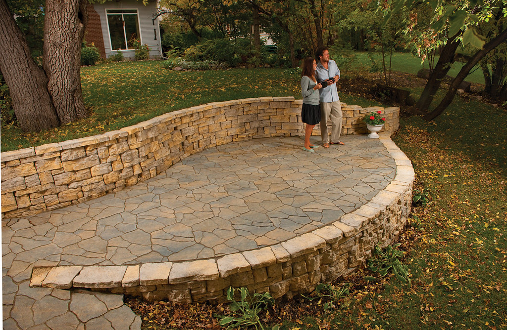 garden patio freestanding retaining walls outdoor wall design ideas interlock concrete products