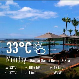 Koh Samui Weather 1July 2013 サムイ島お天気