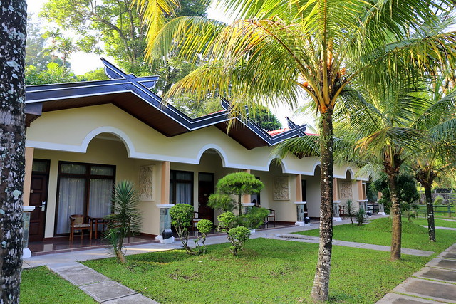 Our row of guest rooms at Hotel Puri Asri