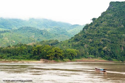 El Mekong cerca de Luang Prabang y de las cuevas de Pak Ou