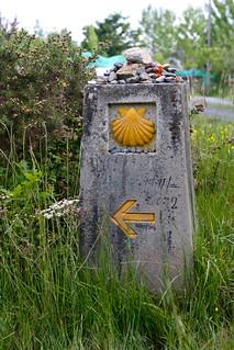 Camino de Santiago in Galicia, Spain