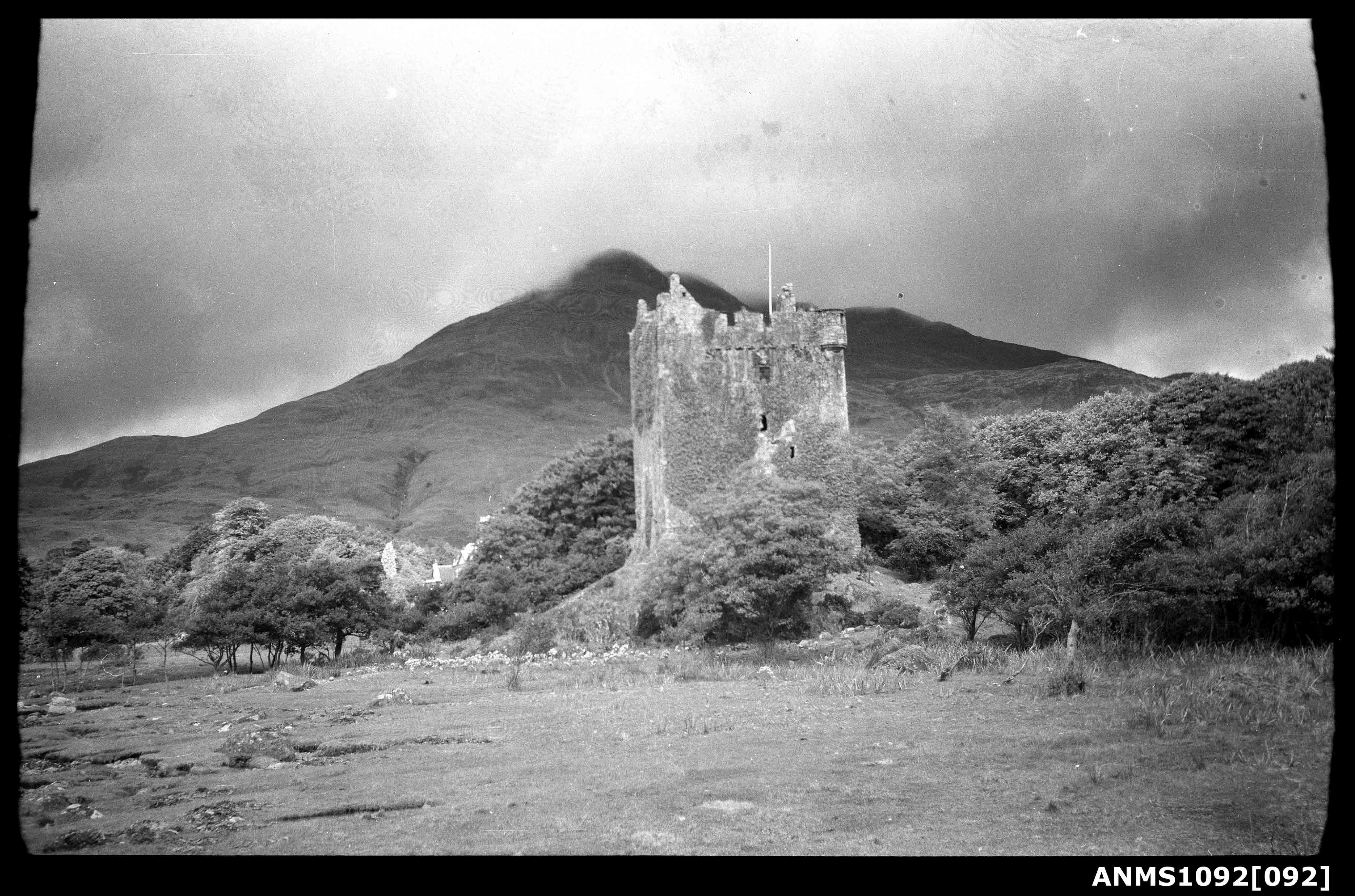 The ruins of Moy Castle, Scotland
