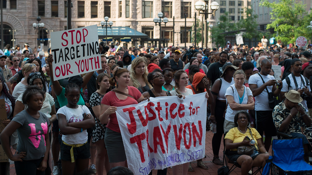 Rally in response to the George Zimmerman verdict