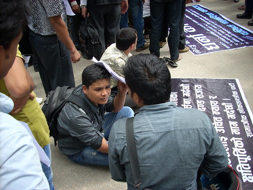 Protest for Dalit rights in Kathmandu
