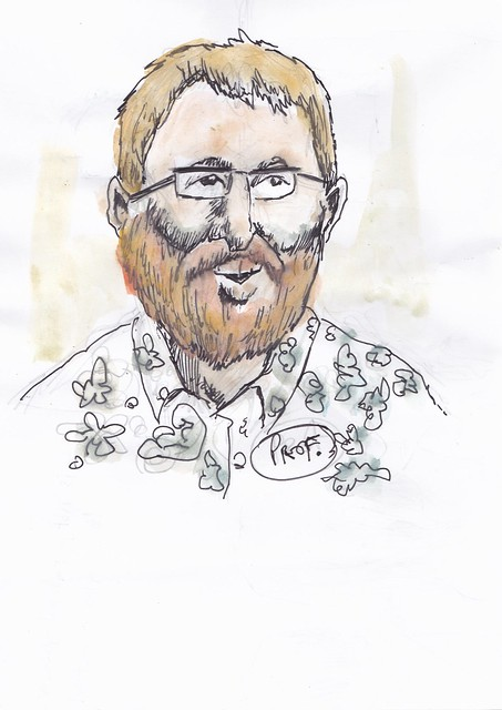 Sketch of Professor Les Carr