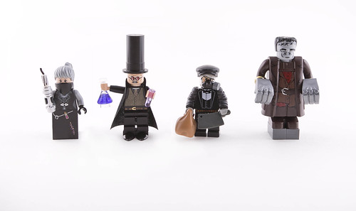 Dr. Victor Frankenstein and his minions