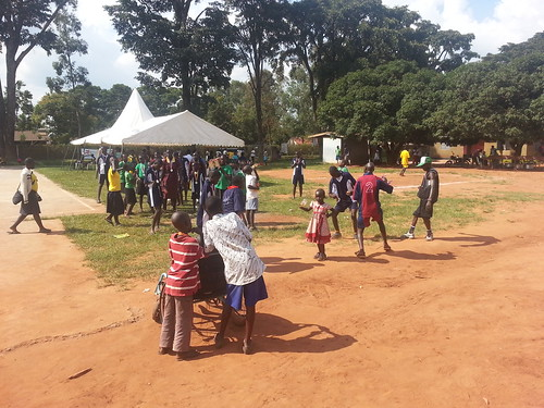 Kids celebrate the days conclusion with some song and dance