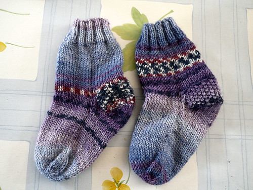 Sock 1 and 2