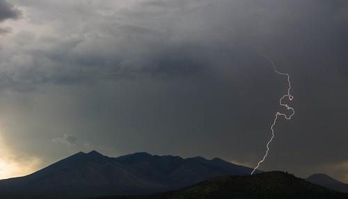 arizona autoimport flagstaff landscape monsoon sanfranciscopeaks clouds lightning sky storm unitedstates dook'o'oosłííd nuvatukya'ovi wimunkwa explored explored08172013 flickr