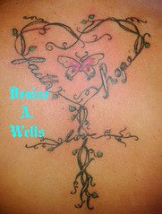 Faith Heart Cross inked design by Denise A. Wells
