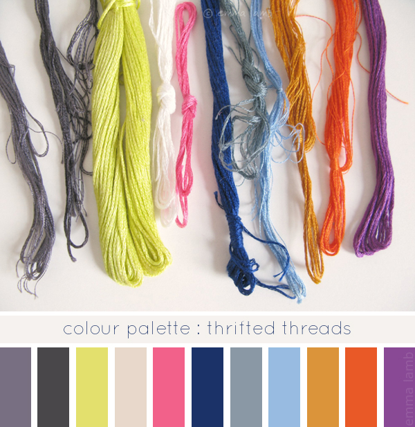 colour palette : thrifted threads - curated by Emma Lamb / image © emma lamb