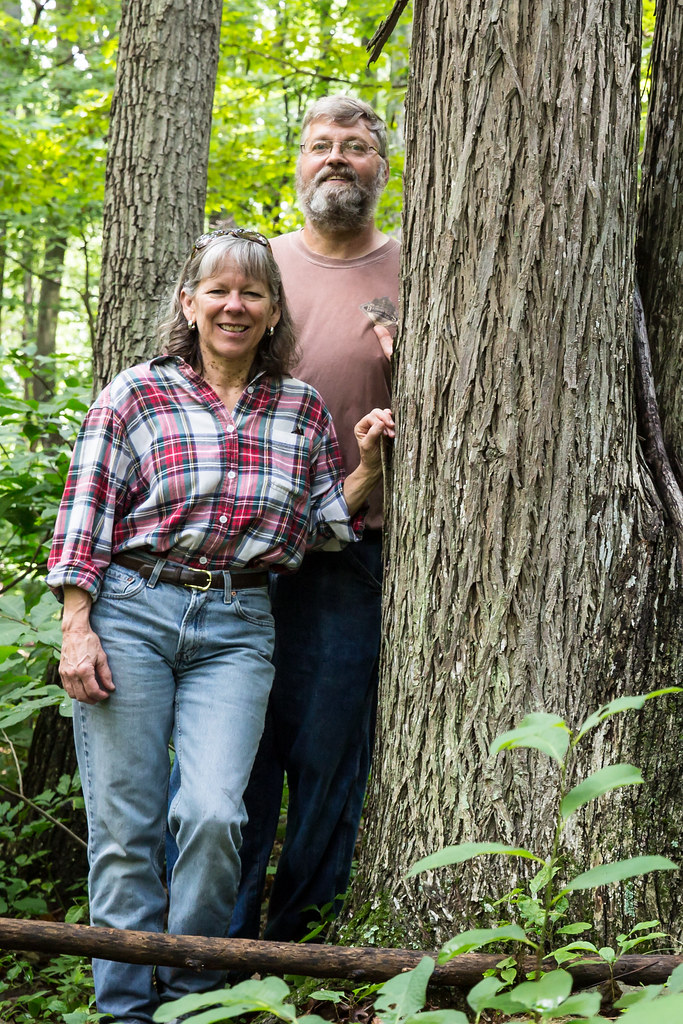 Travis and Joyce Miller from Falling Bark Farm Hickory Syrup in Berryville Virginia