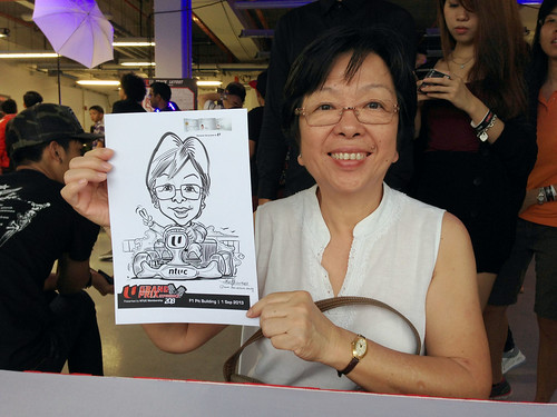 caricature live sketching for NTUC U Grand Prix Experience 2013 - 19