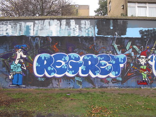 Regret graffiti, Trellick Tower