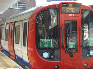 S7 21317 on District Line (training), Earl's Court