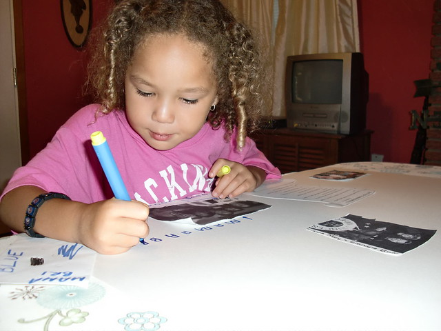 Working on Her Homework