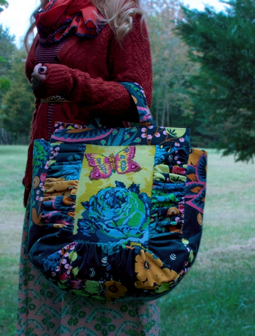 needlepoint.velveteen.bag