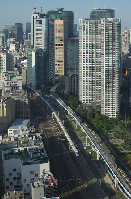 Tokyo Train Story 世界貿易センタービル展望室から 2013年9月19日