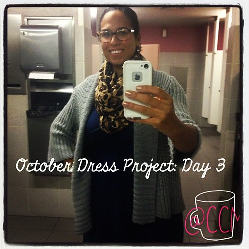 #ODP Day 3. Leopard Scarf and shoes plus a chunky sweater. #bathroomselfie #ABeautifulMess