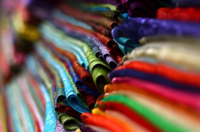 Pañuelos en el Gran Bazar de Estambul