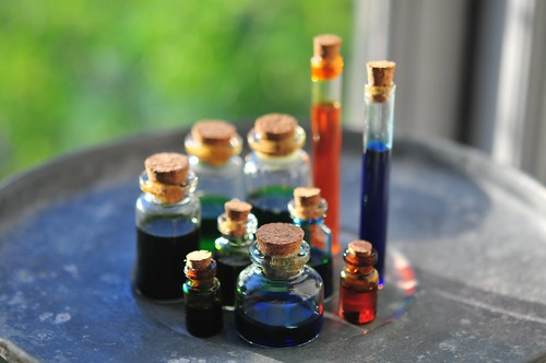 5/10.2013 - potion (or poison) bottles for our halloween invitations