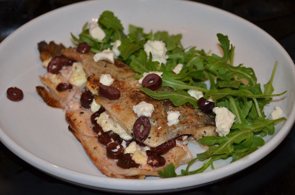 Trout with Greek Olives & Feta