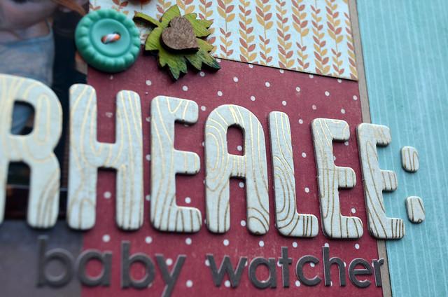 Rhealee Baby Watcher title close-up
