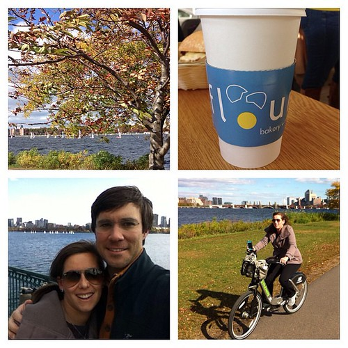 Another great day in Boston!  Biked the Esplanade, spent some time in Cambridge, and enjoyed our favorite bakery called Flour. We have loved our time away but ready to see our babies.