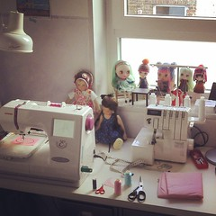 Dolls - always a good accompany when you work :)