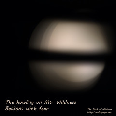 The howling on Mt Wildness beckons with fear - The Path of Wildness