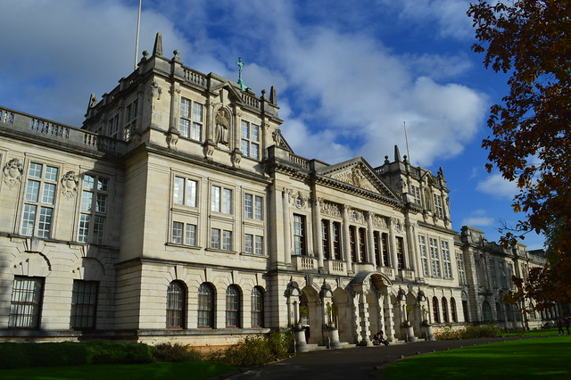 This is a picture of Main Building, Cardiff University