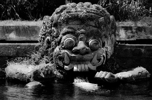 Statue in Water Temple (Bali, Indonesia)