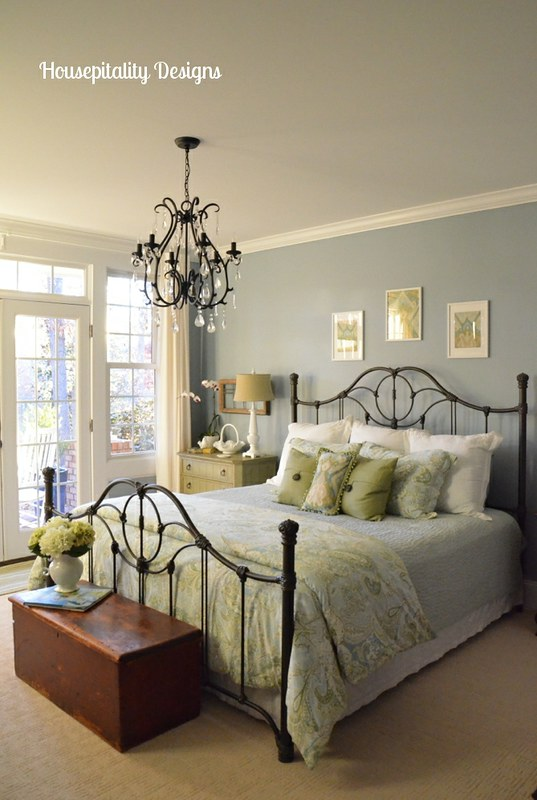 A little bling makes all the difference guest room chandelier aloadofball Choice Image