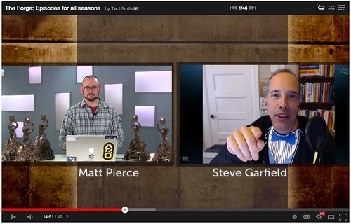 2013 ScreenChamp Awards Winners featuring Steve Garfield - Techsmith The Forge Episode 33 - YouTube by stevegarfield
