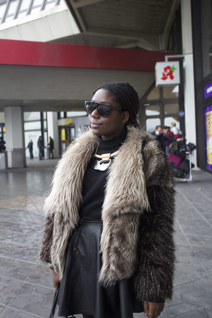 Airport tegel zara fur coat lisforlois