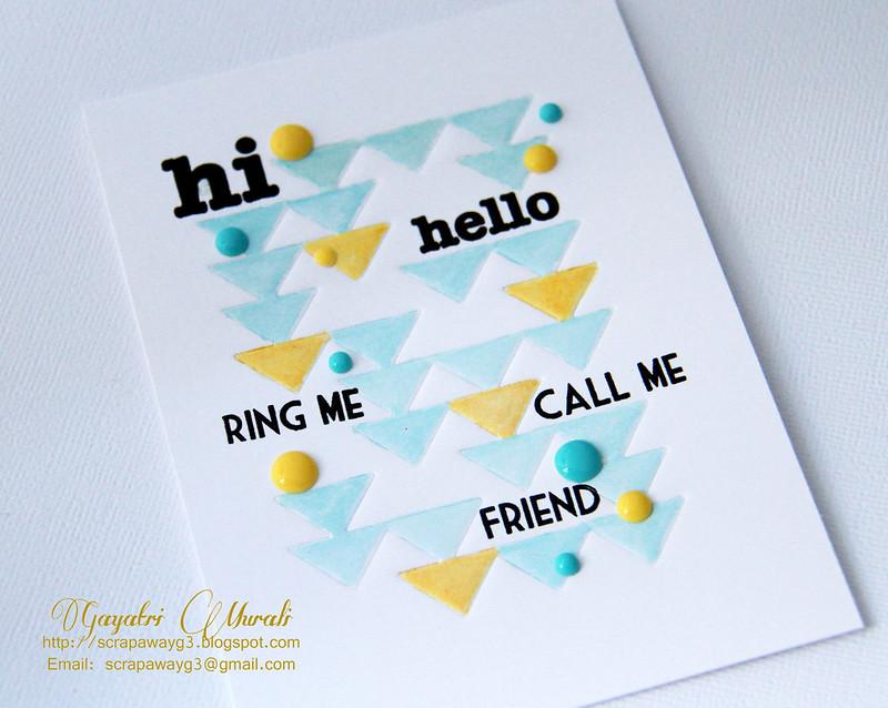 Hi Hello! Card closeup!