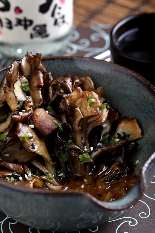 Roasted Maitake Mushrooms in Sesame-Miso Broth
