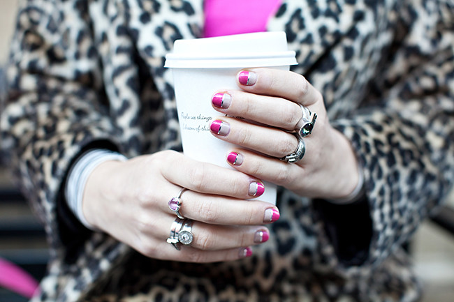 Cold Weather Getting You Down? Try This Metallic Foil Manicure To Dazzle And Delight!