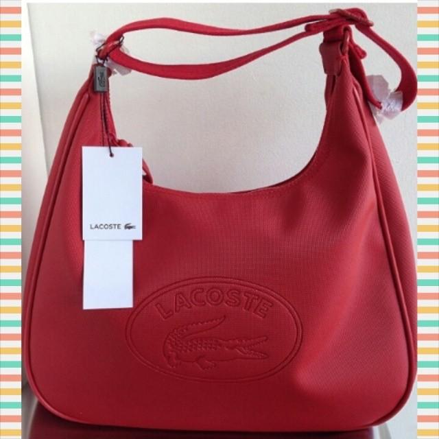 Hohoho  )) Thank you Santa Claus for the Lacoste red classic hobo bag!  Hohoho  )) 42f3f806c8de5